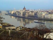 Le parlement hongrois à Budapest Image libre de droits