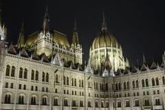 Le Parlement hongrois à Budapest, la nuit Photos libres de droits