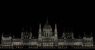 Le parlement hongrois photographie stock libre de droits