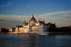 Le parlement hongrois, Budapest photographie stock libre de droits