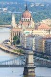 Le Parlement hongrois Budapest, Hongrie Photographie stock libre de droits
