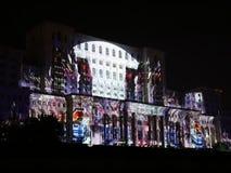 Le Parlement logent - la projection de la vidéo 3D banque de vidéos