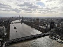Le parlement R-U Angleterre la Tamise de Londres image libre de droits