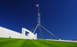 Le Parlement renferment à Canberra, Australie Photographie stock libre de droits