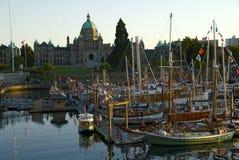 Le Parlement renferment, île de Victoria, BC, le Canada Photo libre de droits