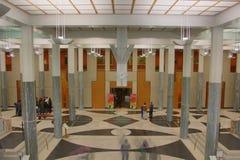 Le Parlement renferment le foyer principal Image libre de droits