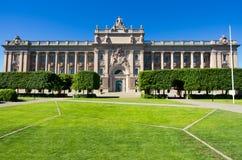 Le Parlement renferment. Stockholm, Suède Photographie stock