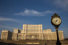 Le Parlement roumain (maison Poporului), Bucarest image libre de droits