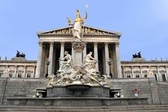 Le Parlement Vienne photographie stock libre de droits