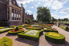 Le Parterre, Chambre de Charlecote, le Warwickshire, Angleterre Photographie stock
