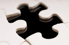 Le parti mancanti del puzzle immagine stock libera da diritti