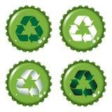 Le parti superiori della bottiglia riciclano royalty illustrazione gratis