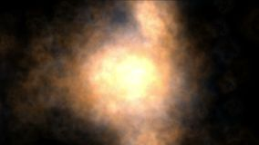 le particelle di esplosione 4k appannano il fondo caldo dei fuochi d'artificio della nuvola del fuoco del fumo del vapore del gas archivi video