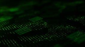 Le particelle digitali del ciclo senza cuciture scorrono fondo astratto dell'ambiente video d archivio