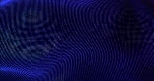 Le particelle futuristiche ondeggiano il fondo astratto Fotografie Stock Libere da Diritti