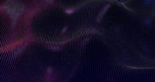 Le particelle futuristiche ondeggiano il fondo astratto - elemento creativo di progettazione Immagine Stock Libera da Diritti