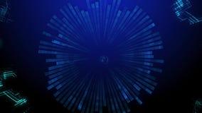 Le particelle futuristiche ondeggiano il fondo astratto Elemento creativo di progettazione, computer grafica archivi video