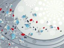 Le particelle scorrono, ver2 - ornamental. Immagini Stock Libere da Diritti