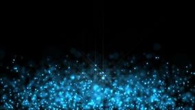 Le particelle sferiche blu-chiaro volano illustrazione di stock