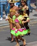 Le participant de danseurs exotiques au carnaval tropical à Paris, franc Images libres de droits