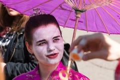 Le participant de la bulle de festival Images libres de droits