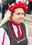 Le participant le plus âgé du concert aux jeux de Nestenar en Bulgarie Photo libre de droits