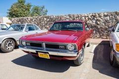 Le partouzeur de mauvais poil de Dodge Dart de voiture de muscle s'est présenté sur le salon automobile d'oldtimer, Israël photos libres de droits