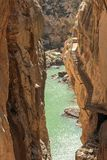 Le passage couvert Caminito del Rey de reopend photos stock