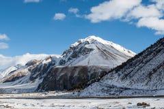 Le passage croisé en hiver Images libres de droits
