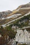 Le passage de Furka en Suisse a regardé de dessous photo stock
