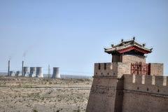 Le passage de Jiayu est la première passe au West End de la Grande Muraille de la Chine, image stock
