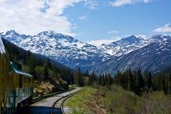 Le passage de l'Alaska et l'artère blancs de Yukon Photos stock