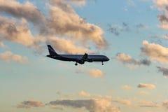 Le passager de la ligne aérienne est Aeroflot Photo libre de droits