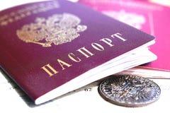 Le passeport du citoyen de la Russie Photos libres de droits