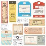 Le passeport grunge de haute qualité étiquette, étiquette et emboutit illustration de vecteur
