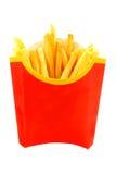 Le patate fritte è fotografata Fotografie Stock Libere da Diritti