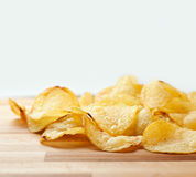Le patatine fritte si chiudono in su immagini stock