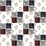 Le patchwork ajuste le fond sans couture de texture de cerise de modèle Photos libres de droits