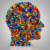 Le patient consomme des pilules Photographie stock