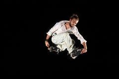 Le patineur intégré saute Images libres de droits