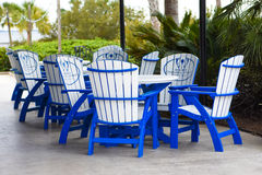 Le patio à Charleston Harbor Resort et à la marina Images libres de droits