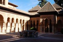 Le patio des lions Photo stock