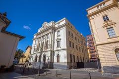 Le patio font la place de Colegio à Sao Paulo Images libres de droits