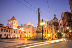 Le patio font la place de Colegio à Sao Paulo Image stock