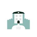 le patrimoine de concepts remet la maison réelle Logo et icône pour la propriété Affaires s de calibre illustration libre de droits
