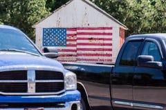 Le patriotisme vient sous beaucoup de formes images stock