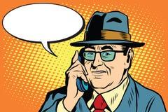 Le patron Director d'affaires dit au téléphone Images libres de droits
