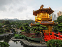 Le pavillon d'or de la perfection en Nan Lian Garden, Image libre de droits