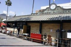 Le pavillon du marché, Sta Monica, CA Images stock