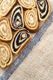 le pavot hongrois de beigli roule la noix de graine Photographie stock